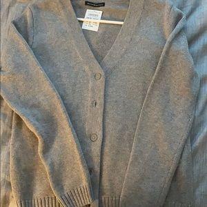 brandy melville grey button up sweater